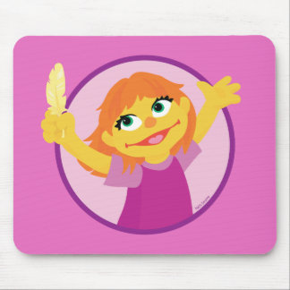 Sesame Street | Julia Holding Feather Mouse Pad