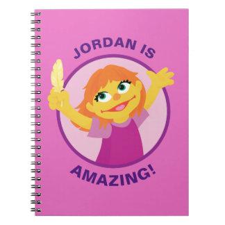 Sesame Street   Julia Holding Feather Spiral Notebook