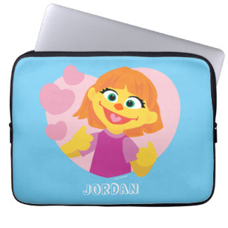 Sesame Street | Julia Pink Heart Laptop Sleeve