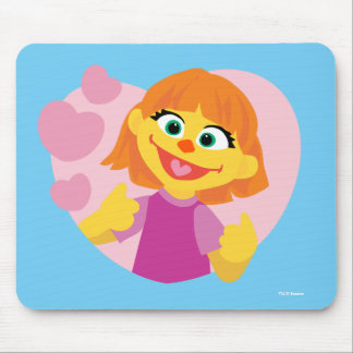 Sesame Street | Julia Pink Heart Mouse Pad