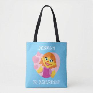 Sesame Street | Julia Pink Heart Tote Bag