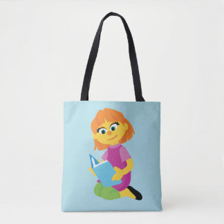 Sesame Street   Julia Reading a Book Tote Bag