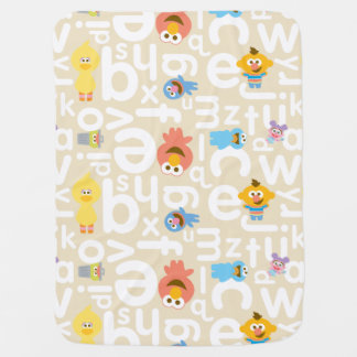 Sesame Street Pals Alphabet Pattern Receiving Blanket