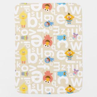 Sesame Street Pals Alphabet Pattern Receiving Blanket