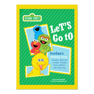 Sesame Street Pals Birthday Card