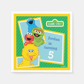 Sesame Street Pals Birthday Disposable Serviette