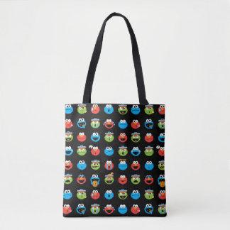 Sesame Street Pals Emoji Pattern Tote Bag