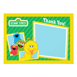 Sesame Street Pals Thank You 11 Cm X 16 Cm Invitation Card