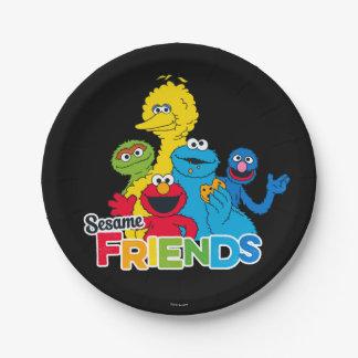 Sesame Street | Sesame Friends 7 Inch Paper Plate