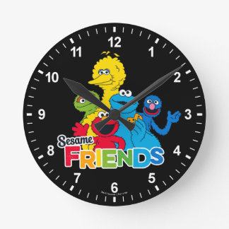 Sesame Street   Sesame Friends Round Clock