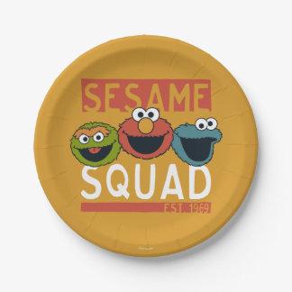 Sesame Street - Sesame Squad 7 Inch Paper Plate