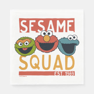 Sesame Street - Sesame Squad Disposable Serviettes