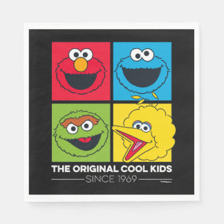 Sesame Street | The Original Cool Kids Disposable Serviettes