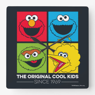 Sesame Street | The Original Cool Kids Square Wall Clock