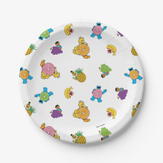 Sesame Street Tropical Pattern 7 Inch Paper Plate