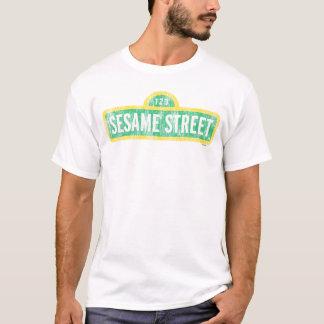 Sesame Street Yellow Sign Logo T-Shirt