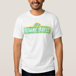 Sesame Street Yellow Sign Logo Tee Shirt