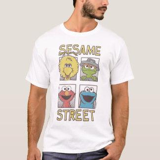 Sesame StreetVintage Character Comic 2 T-Shirt