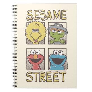 Sesame StreetVintage Character Comic Notebook