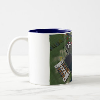 Sescond Life  Aerial of MATC Island Two-Tone Coffee Mug