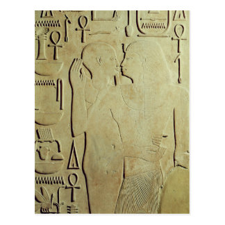 Sesostris I  being Embraced by the God Ptah Postcard