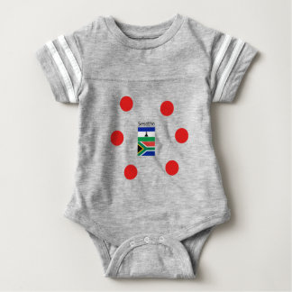 Sesotho Language And Lesotho/South Africa Flags Baby Bodysuit