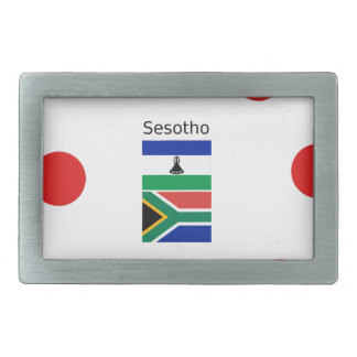 Sesotho Language And Lesotho/South Africa Flags Belt Buckle