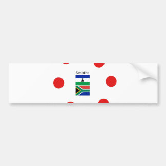 Sesotho Language And Lesotho/South Africa Flags Bumper Sticker