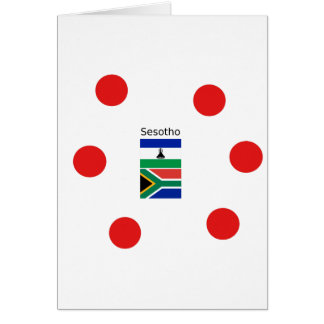 Sesotho Language And Lesotho/South Africa Flags Card