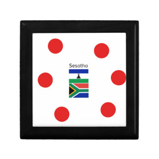 Sesotho Language And Lesotho/South Africa Flags Gift Box