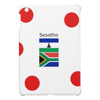 Sesotho Language And Lesotho/South Africa Flags iPad Mini Cover