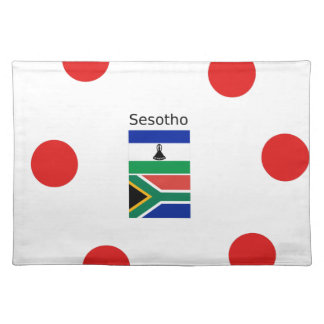 Sesotho Language And Lesotho/South Africa Flags Placemat