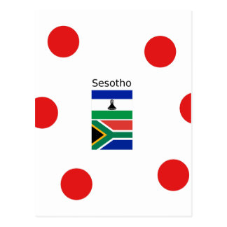 Sesotho Language And Lesotho/South Africa Flags Postcard