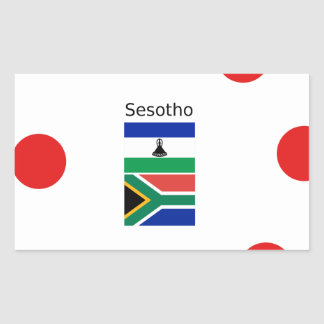 Sesotho Language And Lesotho/South Africa Flags Rectangular Sticker