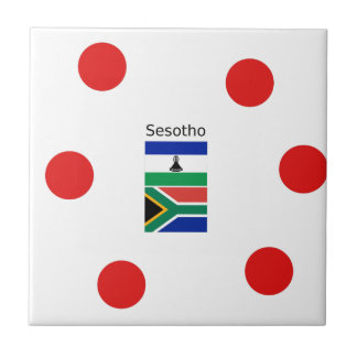 Sesotho Language And Lesotho/South Africa Flags Tile
