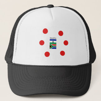Sesotho Language And Lesotho/South Africa Flags Trucker Hat