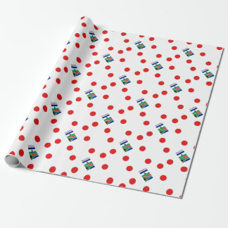 Sesotho Language And Lesotho/South Africa Flags Wrapping Paper