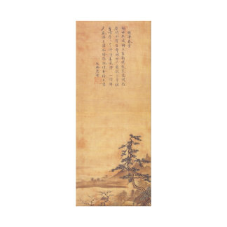 Sesshu Toyo Landscape of Four Seasons - Spring Canvas Print