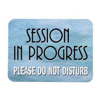 Session in Progress please do not disturb door Magnet