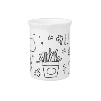 Set chalk out scribble collection pitcher