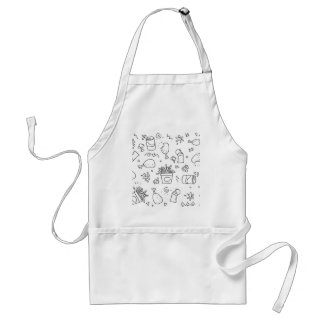 Set chalk out scribble collection standard apron