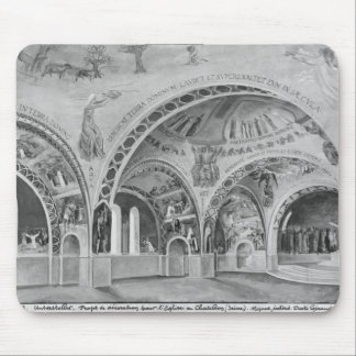 Set design for the church of Chatillon. Mouse Pads