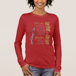"""""""Set Free in Christ"""" Long Sleeve Tee (Card/Gold)"""