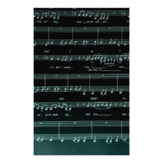 Set it to music personalized stationery