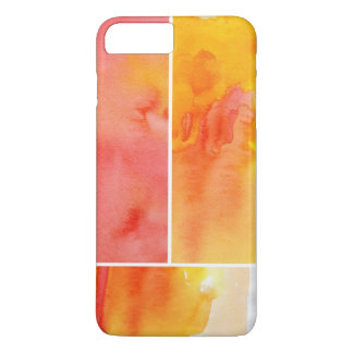 Set of abstract watercolor hand painted iPhone 7 plus case