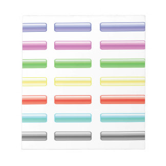 Set of Buttons Notepad