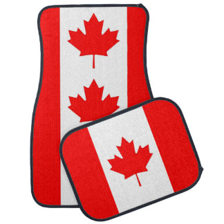 Set of car mats with Flag of Canada