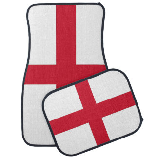Set of car mats with Flag of England