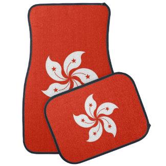 Set of car mats with Flag of Hong Kong
