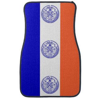 Set of car mats with Flag of New York City, USA